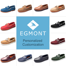 Egmont Spring Summer Personalized Customization Mens Casual Shoes Loafers Genuine Leather Handmade Comfortable Breathable