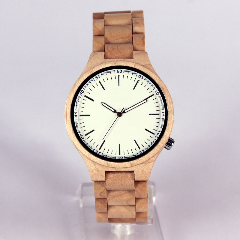 New Bamboo Dial Watches Men Sport Quartz Luminous Needles Leather Band Strap Wrist Watch Cool Women Wood Brown Clock new arrival bamboo men wristwatch classic arabic number dial genuine leather band strap trendy gift quartz watch