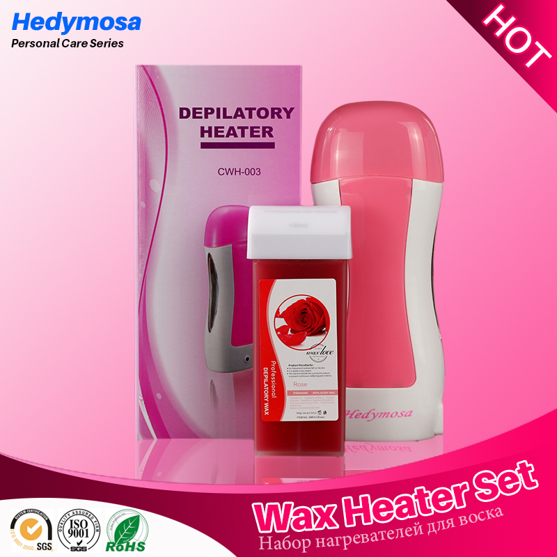 Vosková zahřívač set epilator 110V / 220v-240V holení 100g vosk bezbolestný kosmetický stroj * 1 + vosk * 1
