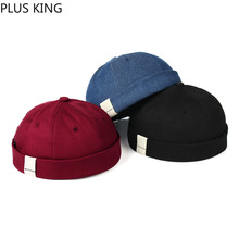 2019 New Simple Beanies for Men Women Dome Landlord Hip Hop Hat Blue Black Wine Red 3 Color