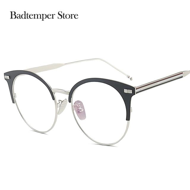 Badtemper Blacksilvergold Transparent Glasses Frame For Women Men