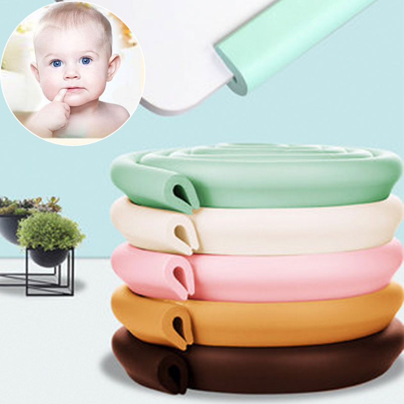 2M Length U-shaped Children Protection Table Guard Strip Baby Safety Products Glass Edge Furniture Corner Security Cabinet Lock
