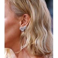 ZAKOL Cute White Gold Statement Flower Stud Earrings Jewelry With CZ Zirconia Crystal For Women Christmas Gift FSEP2028