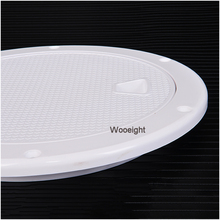 4″/ 6″ Marine Boat RV White Round Access Hatch Cover Accessories Screw Out Deck Inspection Plate