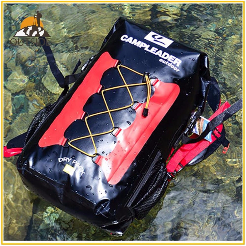 Calidad 30L bolsas a prueba de agua de almacenamiento Dry Sack bolsa para Canoa Kayak Rafting deporte al aire libre de la piscina bolsas Kit de viaje mochila