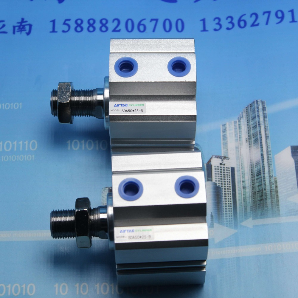 SDA50*25-B AIRTAC Thin type cylinder air cylinder pneumatic component air tools diameter 50mm mgpm63 200 smc thin three axis cylinder with rod air cylinder pneumatic air tools mgpm series mgpm 63 200 63 200 63x200 model