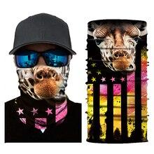 Разнообразие цифровое волшебное полотенце для лица потрясающий открытый рыболовный бесшовный дышащий Быстросохнущий головной платок 6 видов