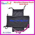 50pcs Wholesale Black or Grey Double Drawstring Microfibre Sunglass Glasses Eyeglass Soft Case Bag Pouch  Free Shipping CP030