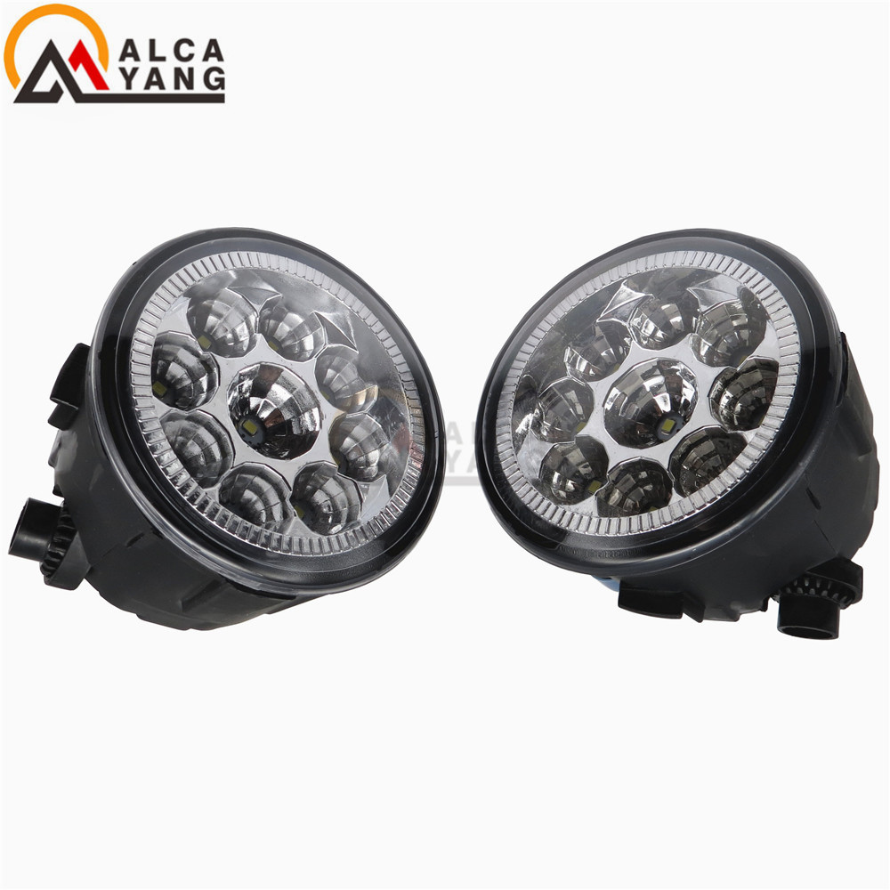 Car styling front bumper LED fog Lights high brightness eagle eye For Nissan Rogue S 2.5L L4 - Gas 2011 2012 2013 for lexus rx gyl1 ggl15 agl10 450h awd 350 awd 2008 2013 car styling led fog lights high brightness fog lamps 1set