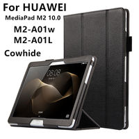 Case Cowhide For Huawei MediaPad M2 10 0 Case Cover Genuine Leather Protective Tablet For HUAWEI
