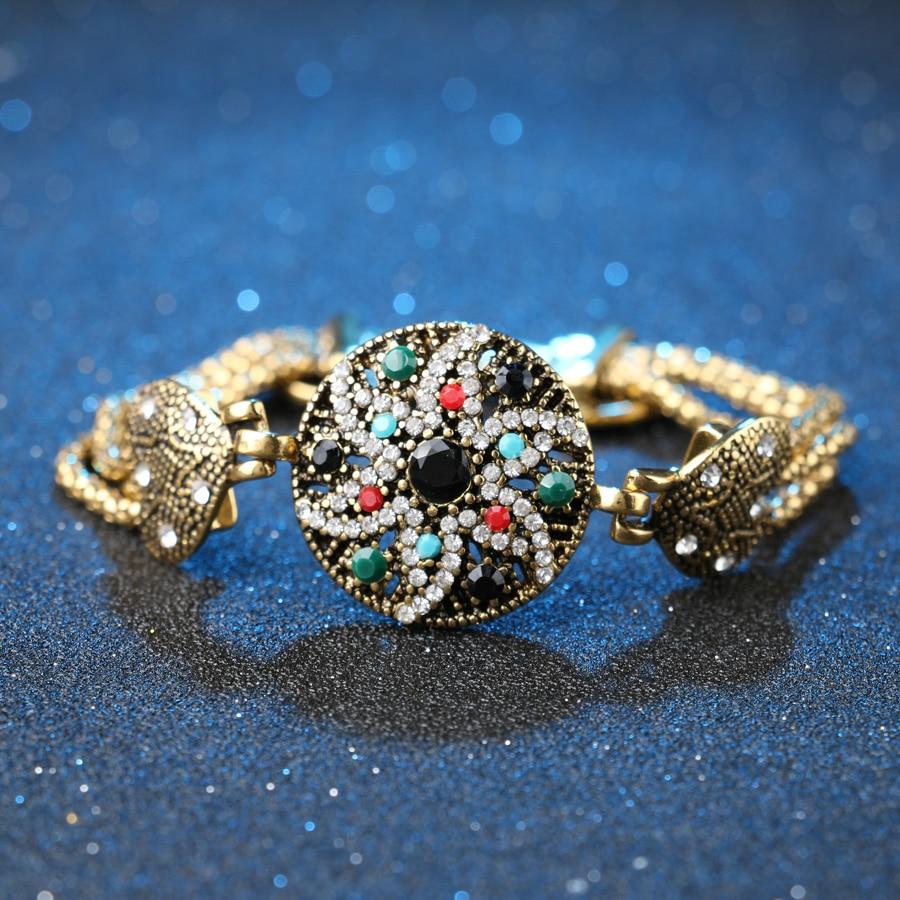 Vintage Look Indian Starfish Armbånd Ring For Kvinder Hvid Krystall - Mode smykker - Foto 4