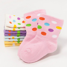5Pairs/lot Autumn Winter Baby Socks 0-3 Years Cartoon Pure Cotton Children's Hosiery Breathable Antibacterial Socks F04
