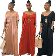 Women Casual Boho Short Sleeve V Neck Long Maxi Dress Kaftan Gypsy Beach Dresses Hot Sale