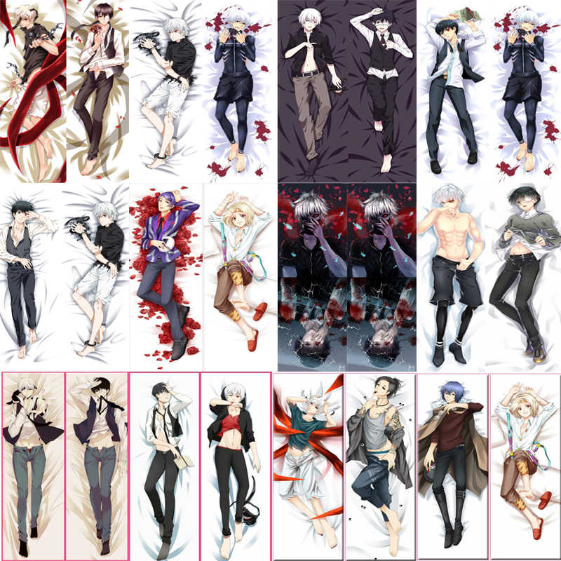 October update Japanese Anime Tokyo Ghoul Ken Kaneki Uta JUZO SUZUYA hugging Body pillowcase otaku Dakimakura pillow cover case