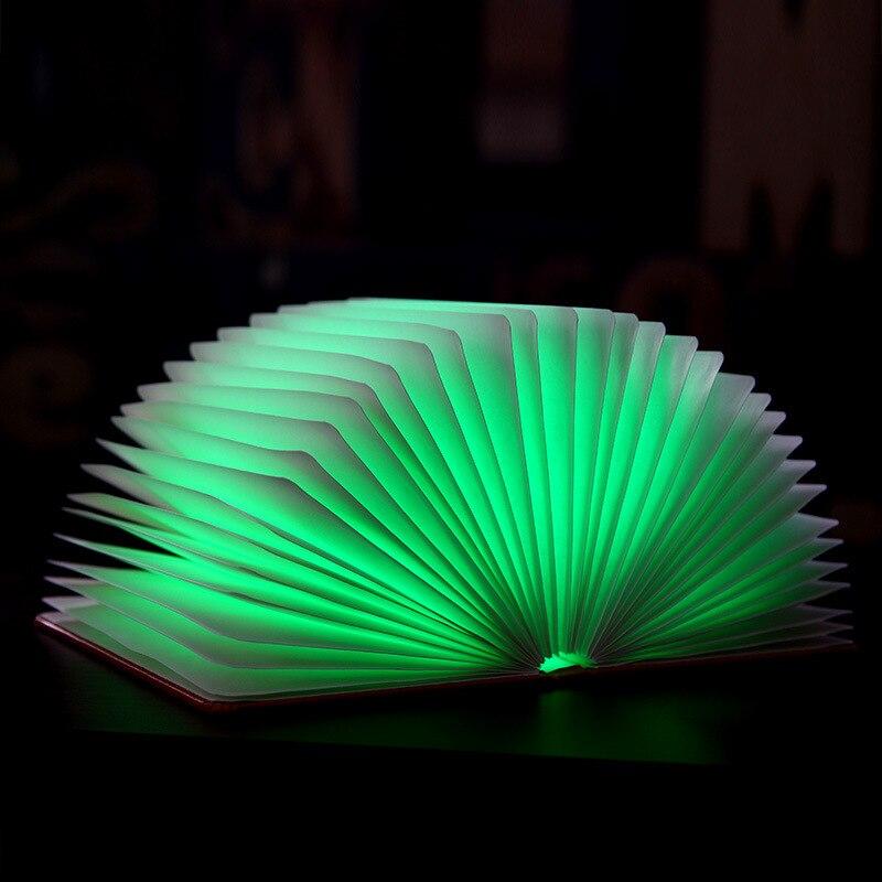 Folded Origami  LED Book wall Light Book Color Leather Portable Folding Book Light USB Decorative Folding Table Lamp CL FG308