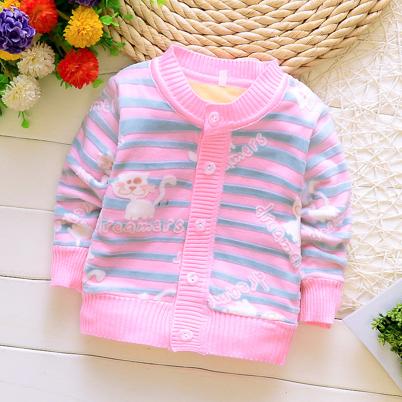 BibiCola-spring-autumn-baby-girlsboys-candy-color-cardigan-sweater-children-add-velvet-outerwear-sewater-kids-Knitting-coat-5