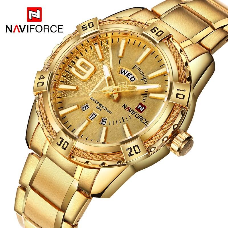 Watches Men NAVIFORCE Top Brand Men Luxury Watch Men's Sport Watches 30M Waterproof Stainless Steel Analog Quartz Wrist watches