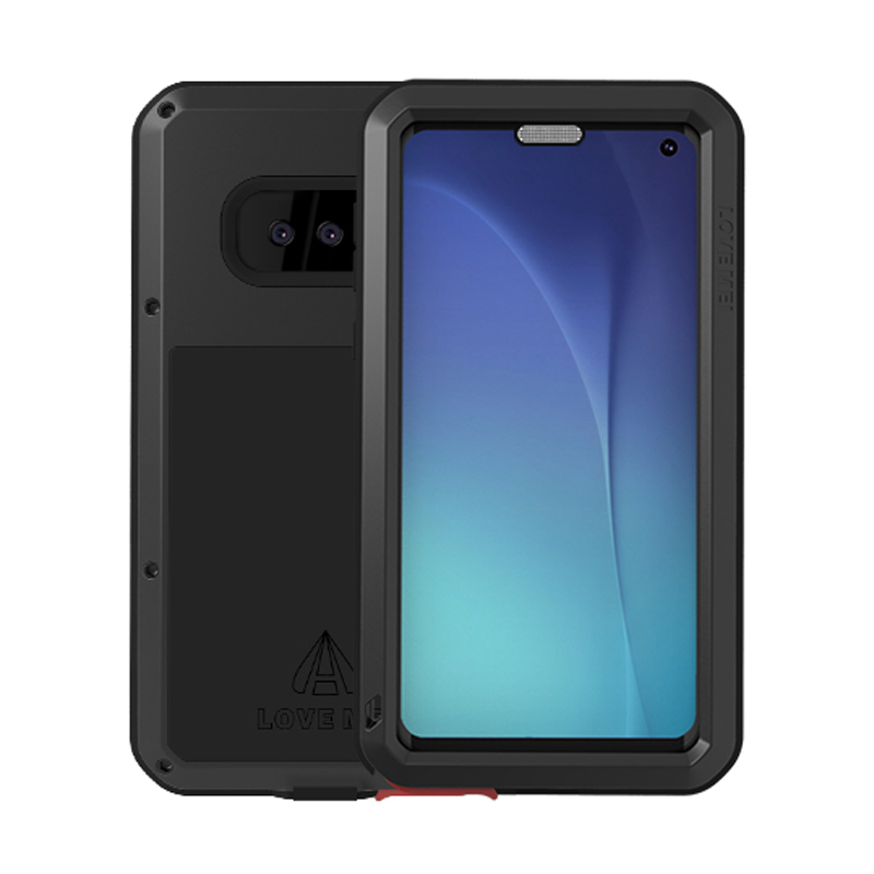 LOVEMEI Dirt resistant Anti knock Metal Aluminum Case with Gorilla Glass for Samsung Galaxy S10E G9700