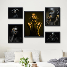 Home Decor Modern Fashion M Lady Figure Nordic Canvas Painting Print For Living Room Girls Bedroom Wall Art Picture