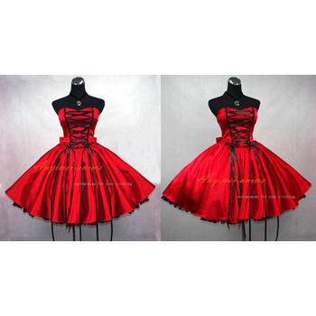 Sissy maid Gothic Lolita Punk Ball Gown Dress Cosplay Costume Tailor-made[G396]