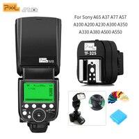 PIXEL M8 2.4G Wireless Transmission FlashLight & TF 325 Hot Shoe Adapter For Sony A65 A37 A77 A57 A100 A200 A230 A300 A350 A330
