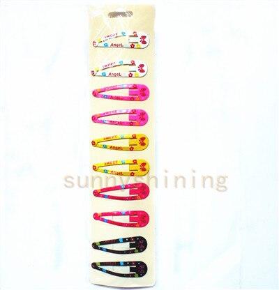 30 шт. 5 см модная детская девушка шпилька картина цветы бутик заколок для волос девушки аксессуары для волос Головные уборы BB заколки для волос