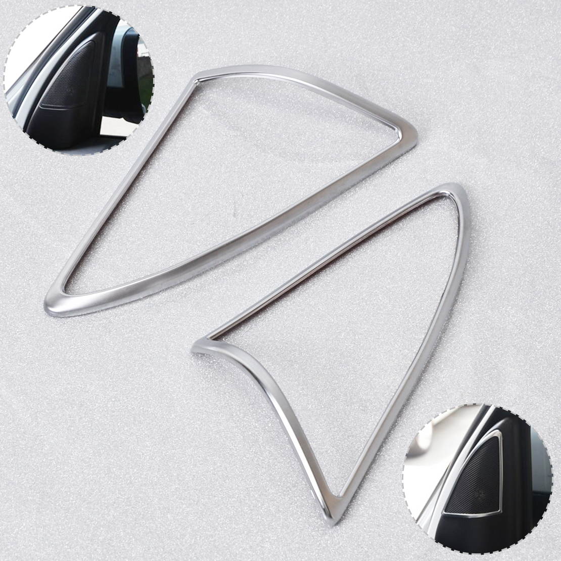 W210 E-CLASS TWO CHROME MIRROR COVERS FOR 2000-2002 MERCEDES BENZ FACELIFT