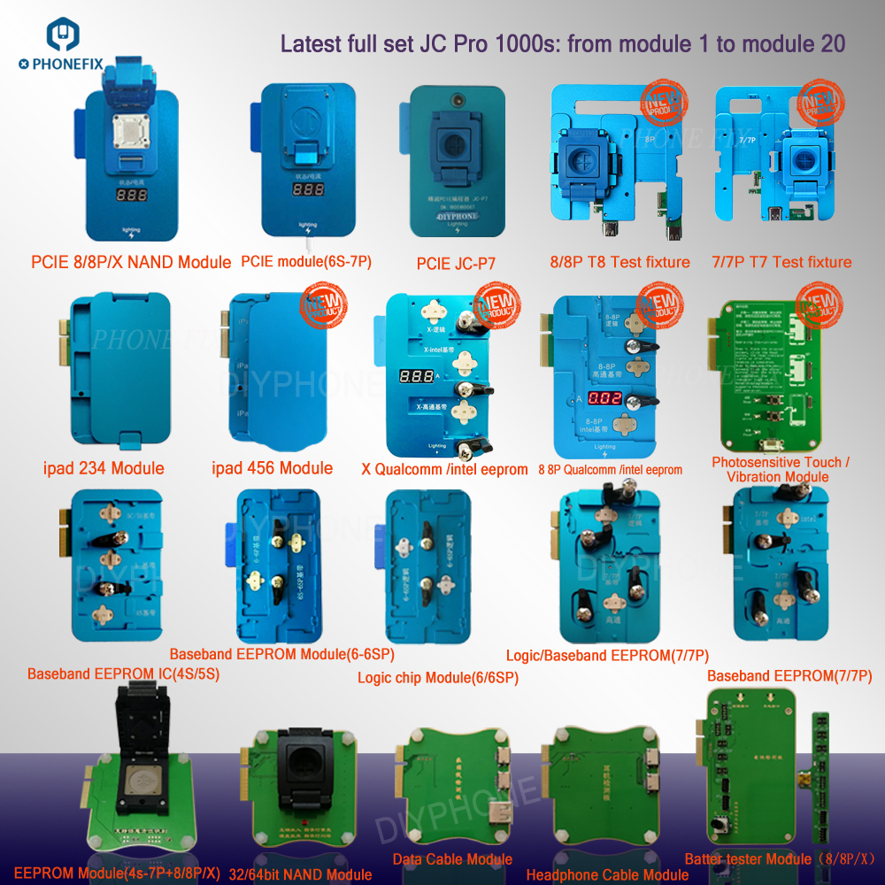 PHONEFIX JC PRO1000S Logic Baseband EEPROM IC Chip Programmer EEPROM IC  Read Write Repair Tool for iPhone 4 5 6 7