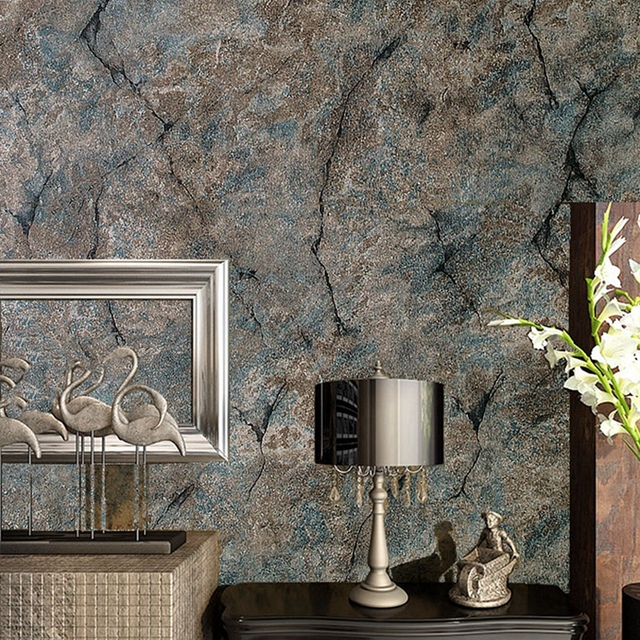 Dunkelgrun Grau Tapete Retro Marmor Textur Reine Farbe Nostalgischen