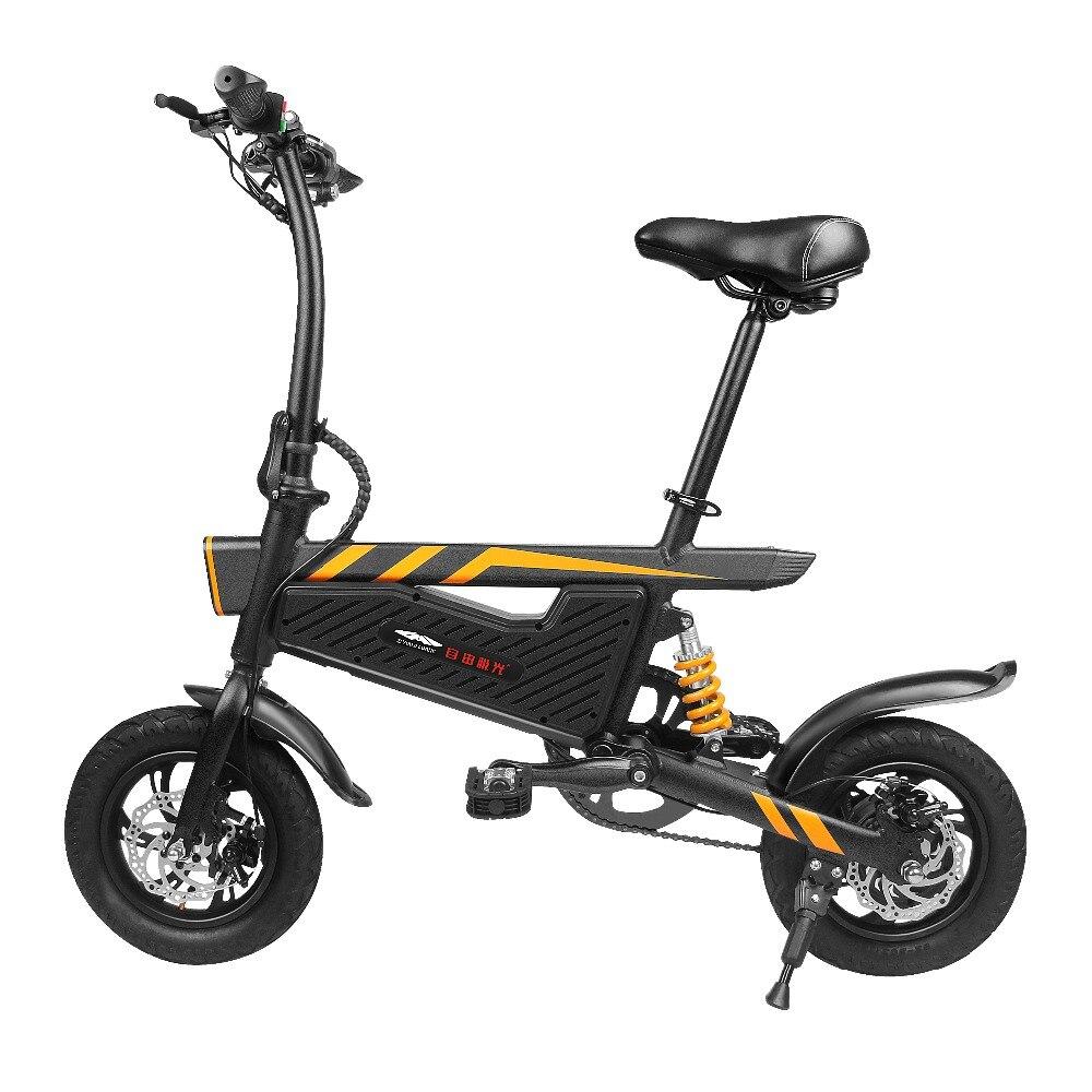 2019 nouveauté vélo électrique 15.74 pouces T18 6Ah pliant cyclomoteur vélo électrique gonflable en caoutchouc pneu avec frein à disque