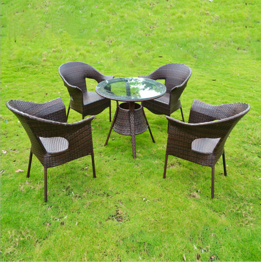 Rattan Table And Chairs Bistro Dining Chair Black Webetop Modern Outdoor Garden Set Furniture Beach