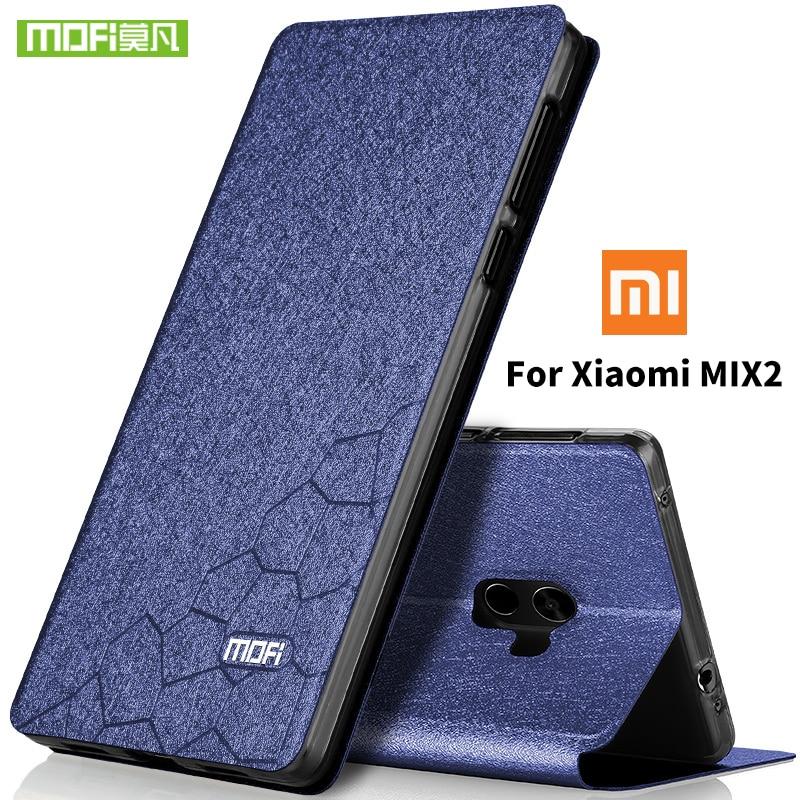 For xiaomi mi mix 2 case flip leather Mofi for xiaomi mix 2 case full screen protetor xiaomi mix2 silicon back hard metal 5.99