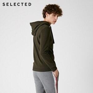 Image 3 - Seleccionado de los hombres 100% Jersey de algodón Color puro Sudadera con capucha cordón sudaderas con capucha ropa S