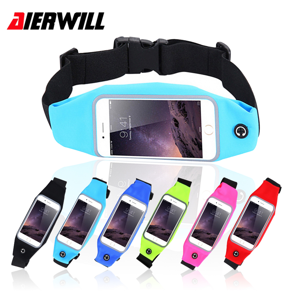 Women Men Running Screen Touch Sport Waist Bag Waterproof Belt Pouch Purse Holder Bag Ph ...