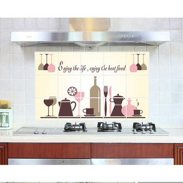 Great Wall Decals Kitchen Free Shipping 45*75cm Cheap Removable Kitchen Stickers  Wall Decor