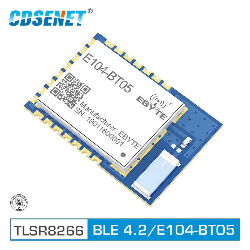 E104-BT05 TLSR8266 2.4GHz BLE4.2 UART Wireless Transceiver Module SMD Bluetooth AT Command Slave Transmitter Receiver