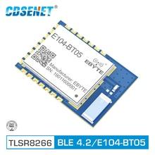 E104 BT05 TLSR8266 2.4GHz BLE4.2 UART kablosuz alıcı modülü SMD Bluetooth AT komutu Slave verici alıcı