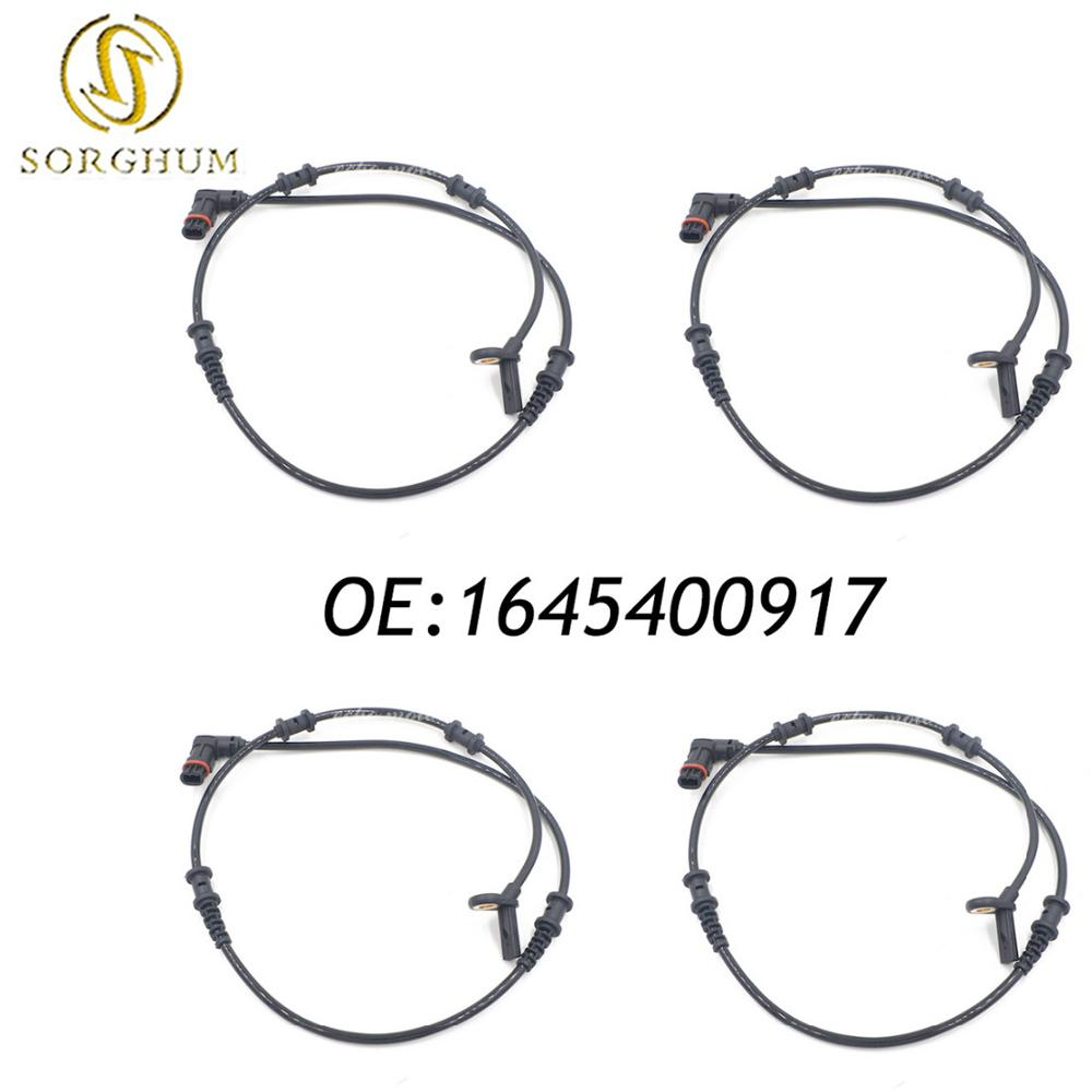 New 4pcs 1645400917 Front Left Right ABS Speed Sensor For Mercedes Benz W164 GL320 ML320 ML350