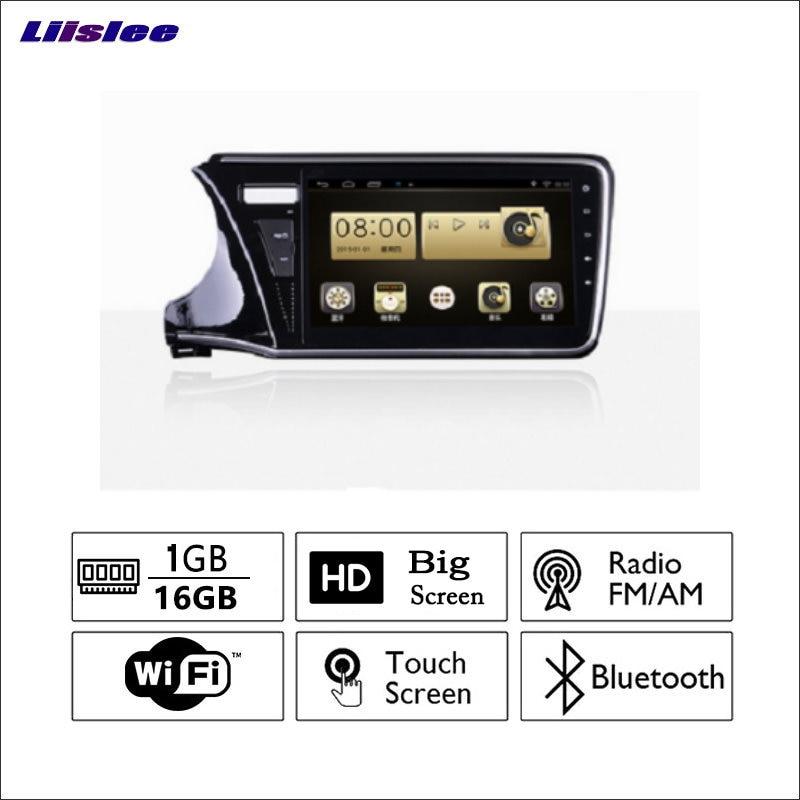 Liislee автомобиля Радио GPS аудио-видео мультимедийный плеер wiifi DVR навигации Android Системы без cd dvd для моделей honda 2015 ~ 2017