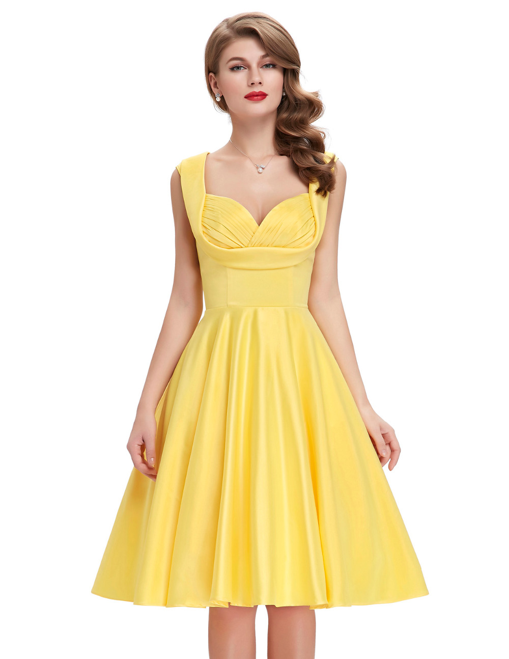 1950s vintage pinup dresses 2016 new arrival summer women for Wedding dresses pin up style