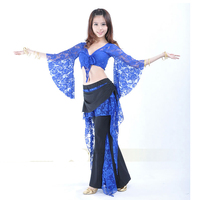 Hot New Belly Dance 2 Pics Costume Lace Top Pants 11 Colors