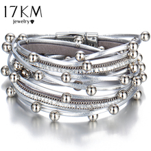 Design Fashion Bead Multiple Layers Charm Bracelet For Women Men Leather Bracelets & Bangle New Femme Party Jewelry Gift