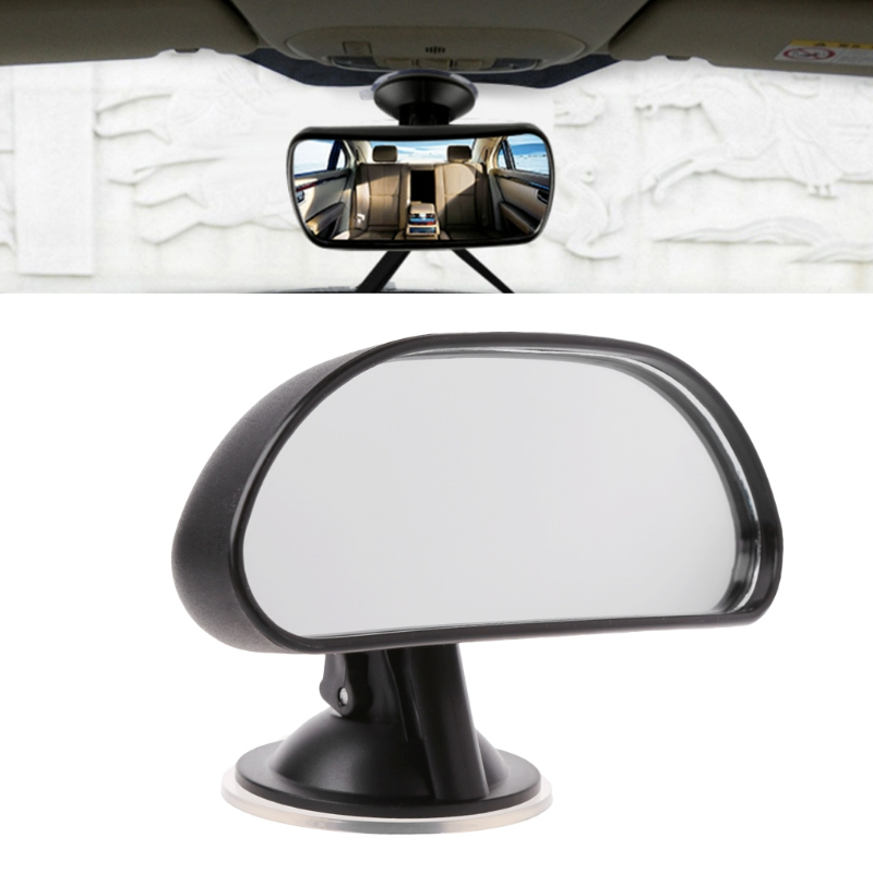 1Pc Adjustable Car Baby Child Back Seat Rear View Safety Mirror With Suction Cup Black Car Back Seat Baby View Mirror