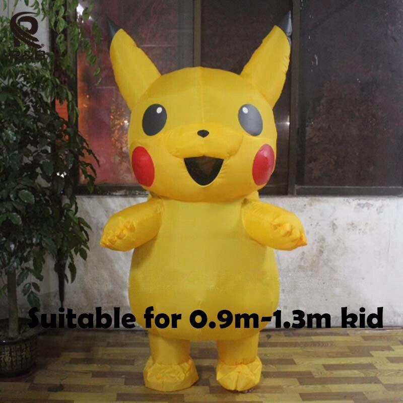Nieuwste Kinderen Pikachu Opblaasbare Kostuum Grappige Halloween - Carnavalskostuums - Foto 2