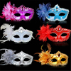 9 Color Sexy Diamond Venetian Mask Venice Feather Flower Wedding Carnival Party Performance Costume Sex Lady Mask Masquerade Hot 1