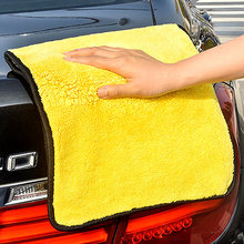 1pc Car Care Polishing Wash Towels Plush Microfiber Washing Drying Towel Strong Thick Polyester Fiber Cleaning Cloth