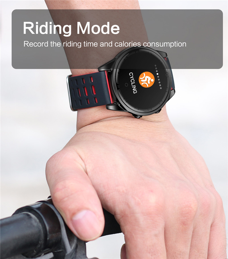 Smart watch fitness waterproof for Android IOS Riding MOde
