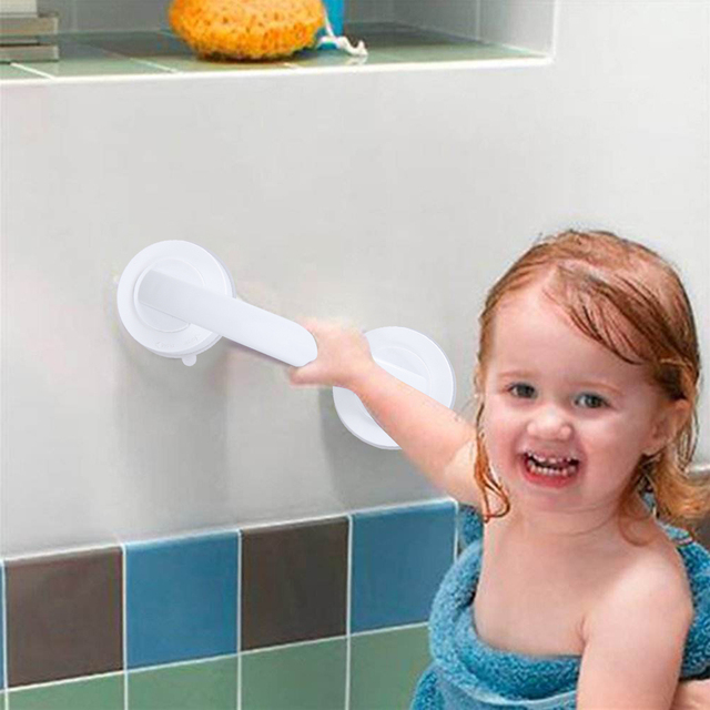 Super Grip Suction Bath Mount Handle Suction Cup Handrail for ...