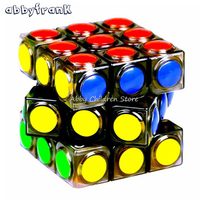 Brand New YJ Transparent Magic Cube 3x3x3 Speed Puzzle Cube Game Dot Shape Cubos Magicos Professional