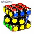 Abbyfrank nuevo cubo mágico transparente 3x3x3 Speed puzzle Cube juego dot cubos magicos profesión juego de puzzle Juguetes regalo